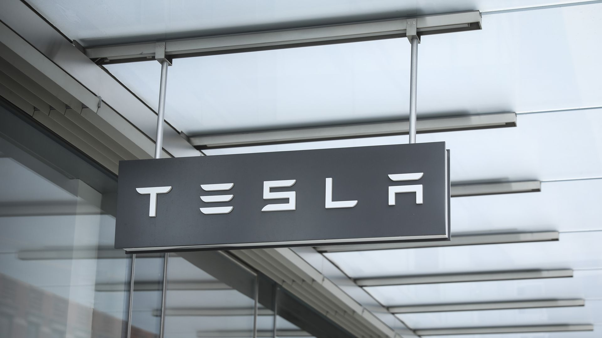 A Tesla showroom in New York City. Photo: Drew Angerer/Getty Images