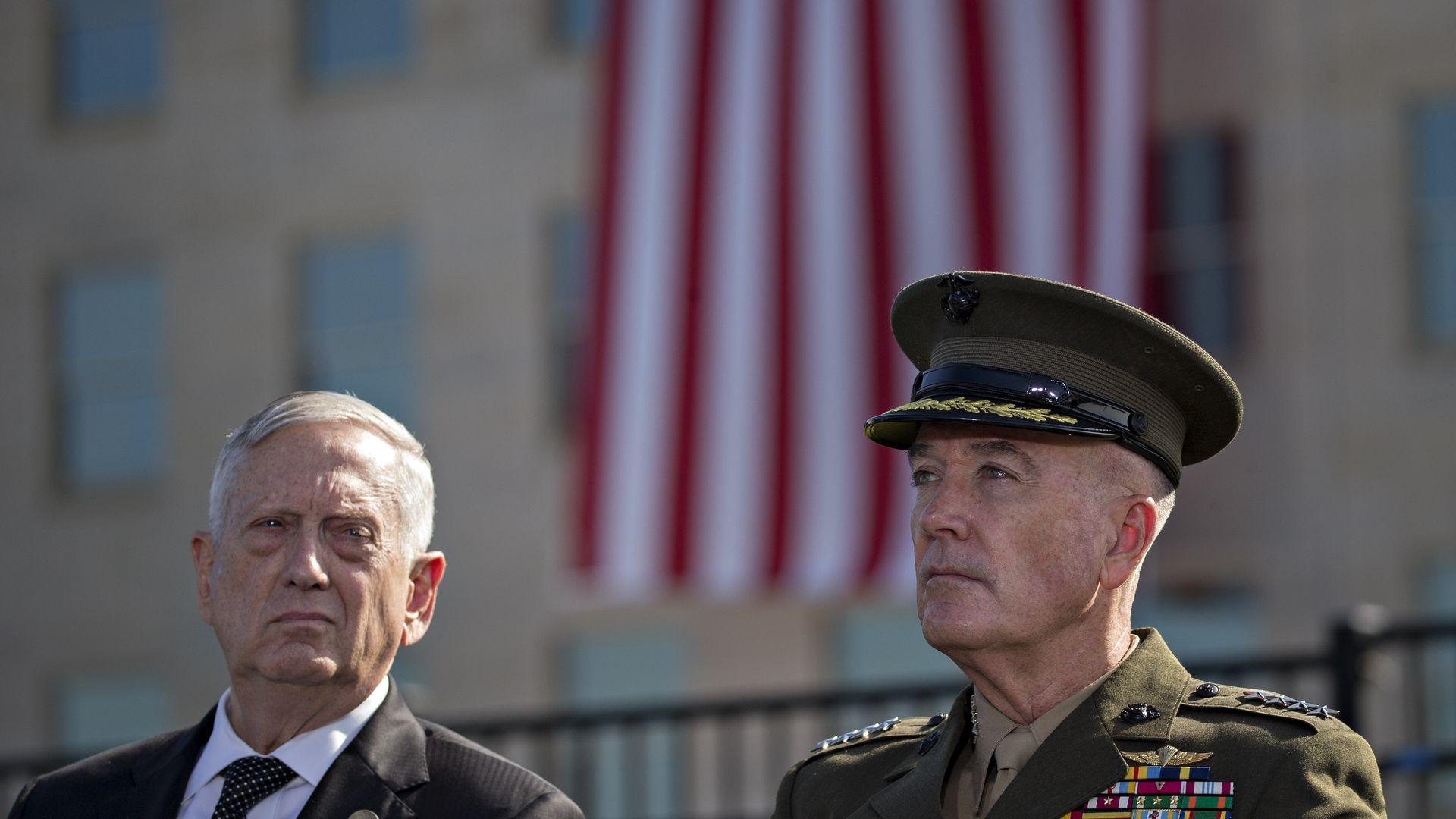 SecDef Jim Mattis and Gen. Joseph Dunford.