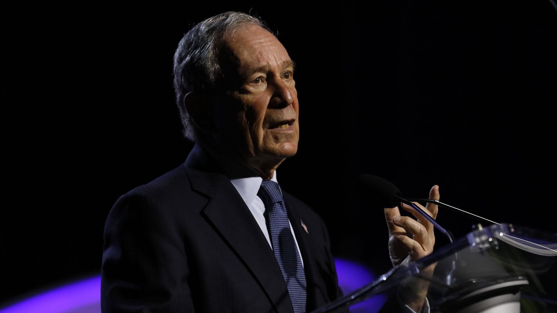 Michael Bloomberg, addresses the NAACP's 110th National Convention at Cobo Center on July 24, 2019 in Detroit, Michigan.