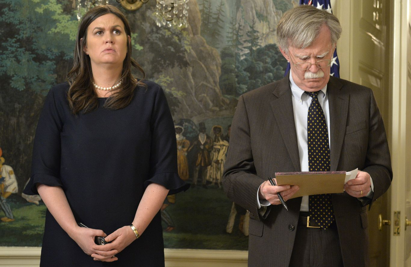 "Sarah Sanders says John Bolton was ""drunk on power"" thumbnail"