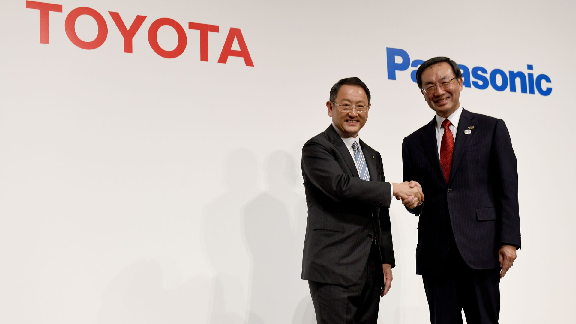 Toyota and Panasonic presidents