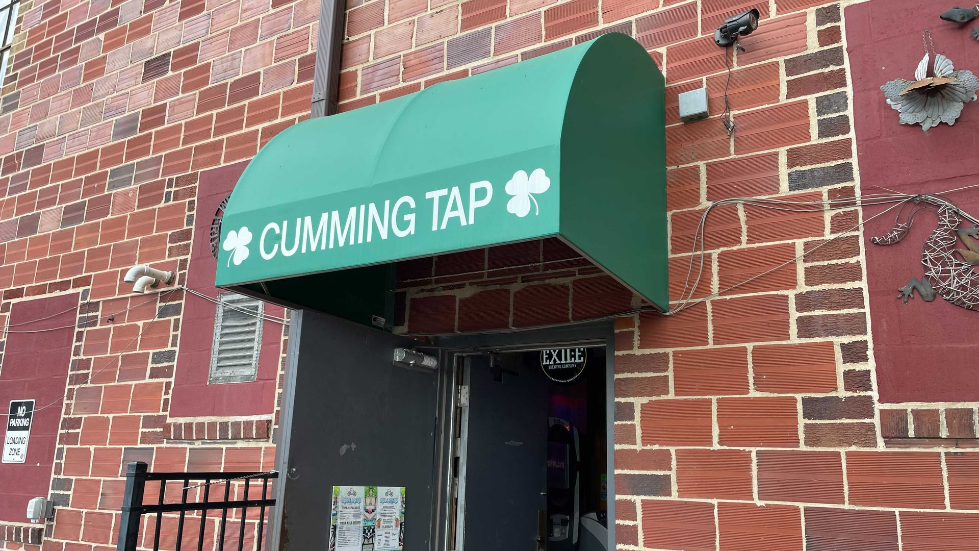 Outside the Cumming Tap bar