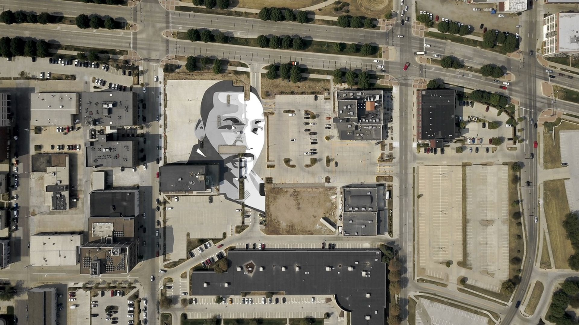 A mural of Martin Luther King, Jr. in Des Moines.