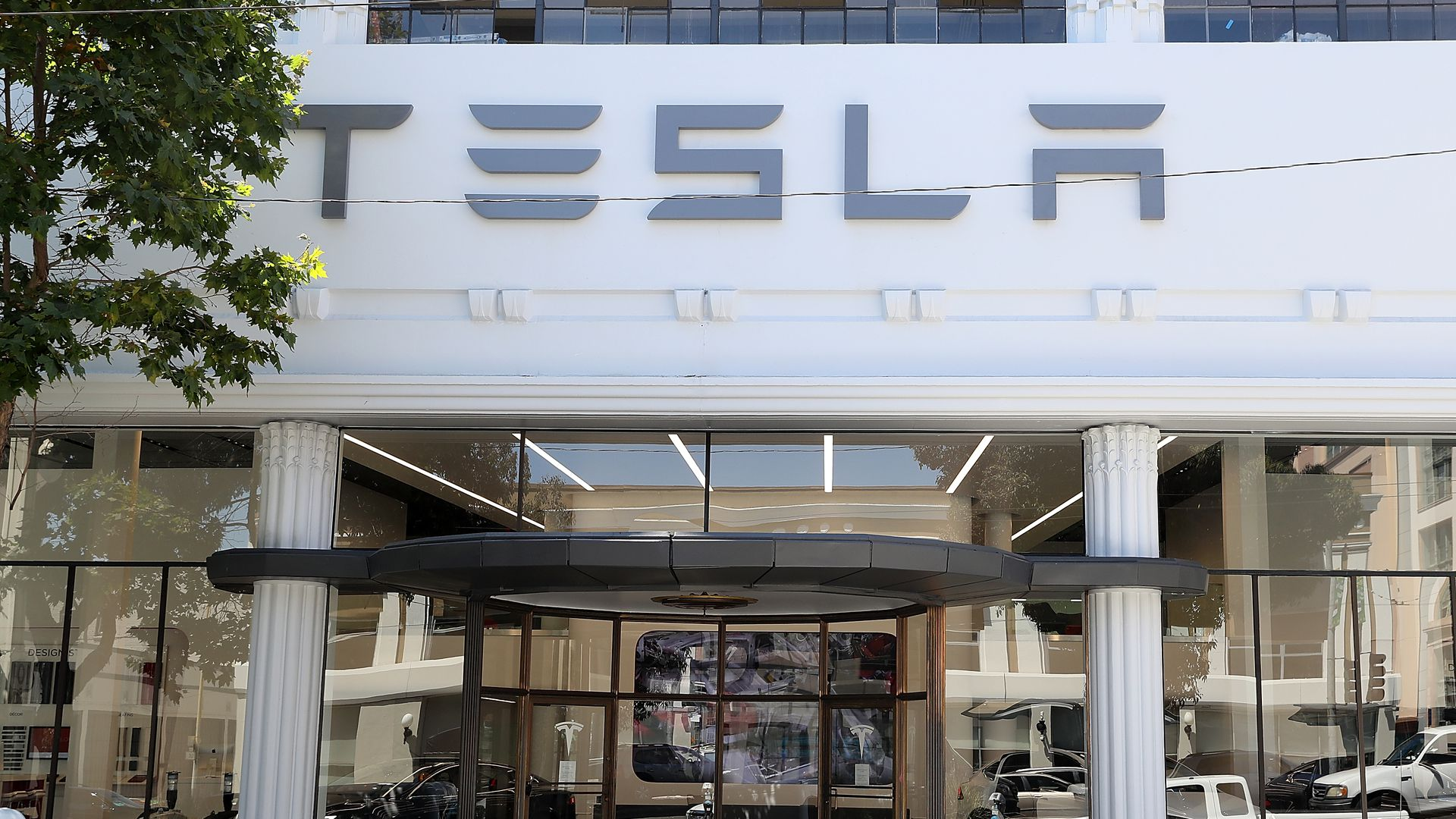 Tesla's new flagship facility in San Francisco, California. Photo: Justin Sullivan/Getty Images
