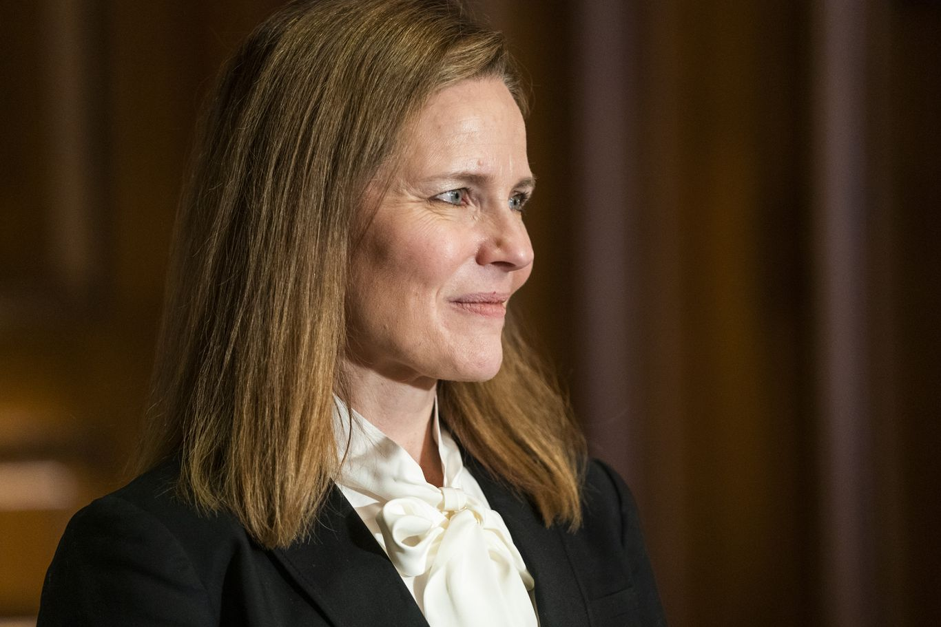 "Amy Coney Barrett to tell Senate that courts ""should not try"" to make policy thumbnail"