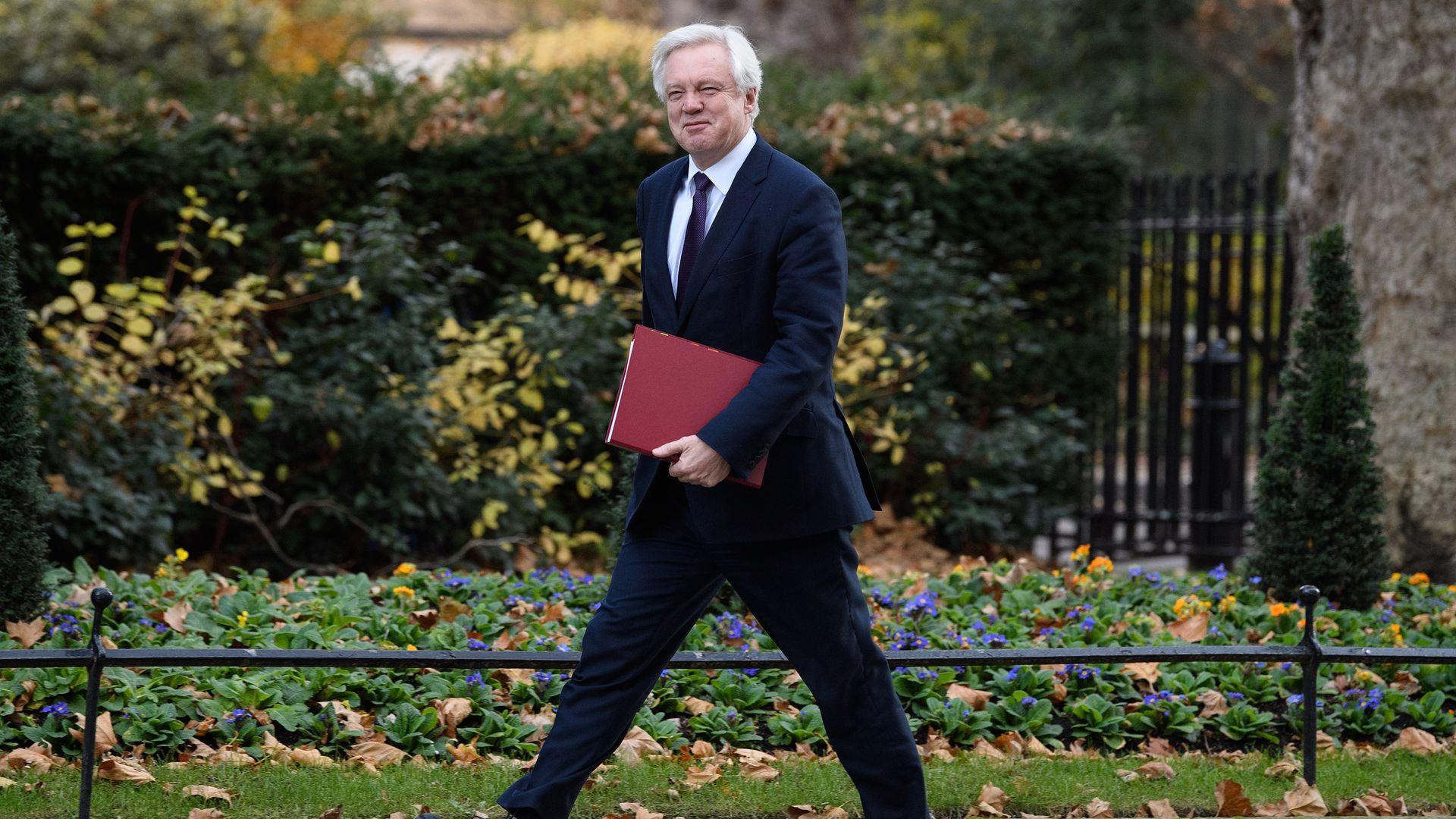 Brexit Secretary David Davis.