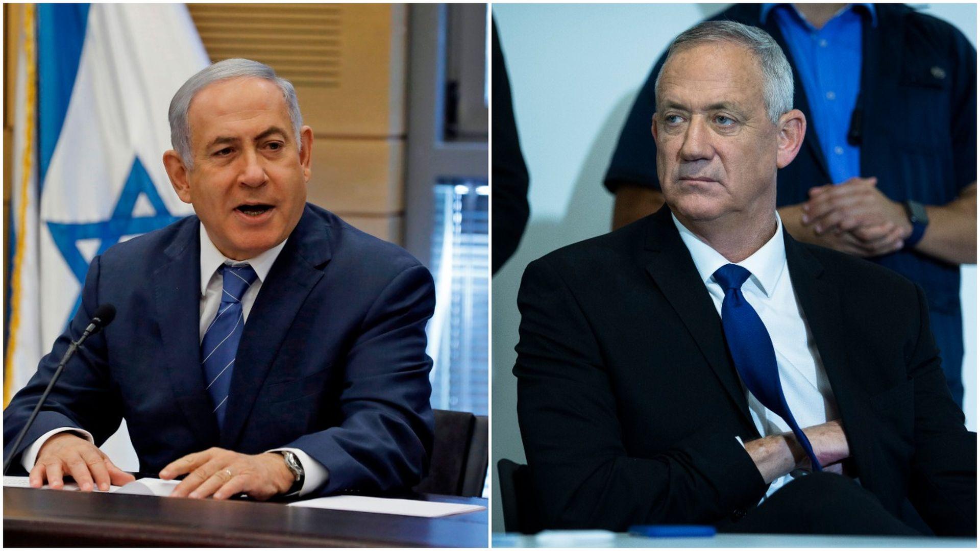 Netanyahu and Benny Gantz