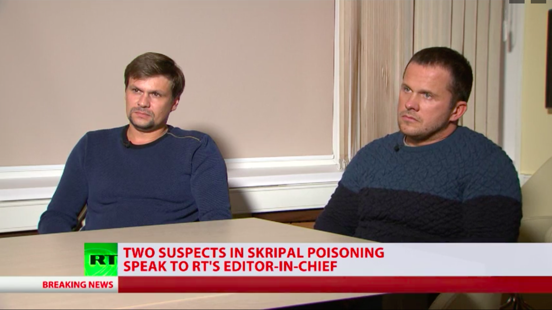 Suspects on Russian TV
