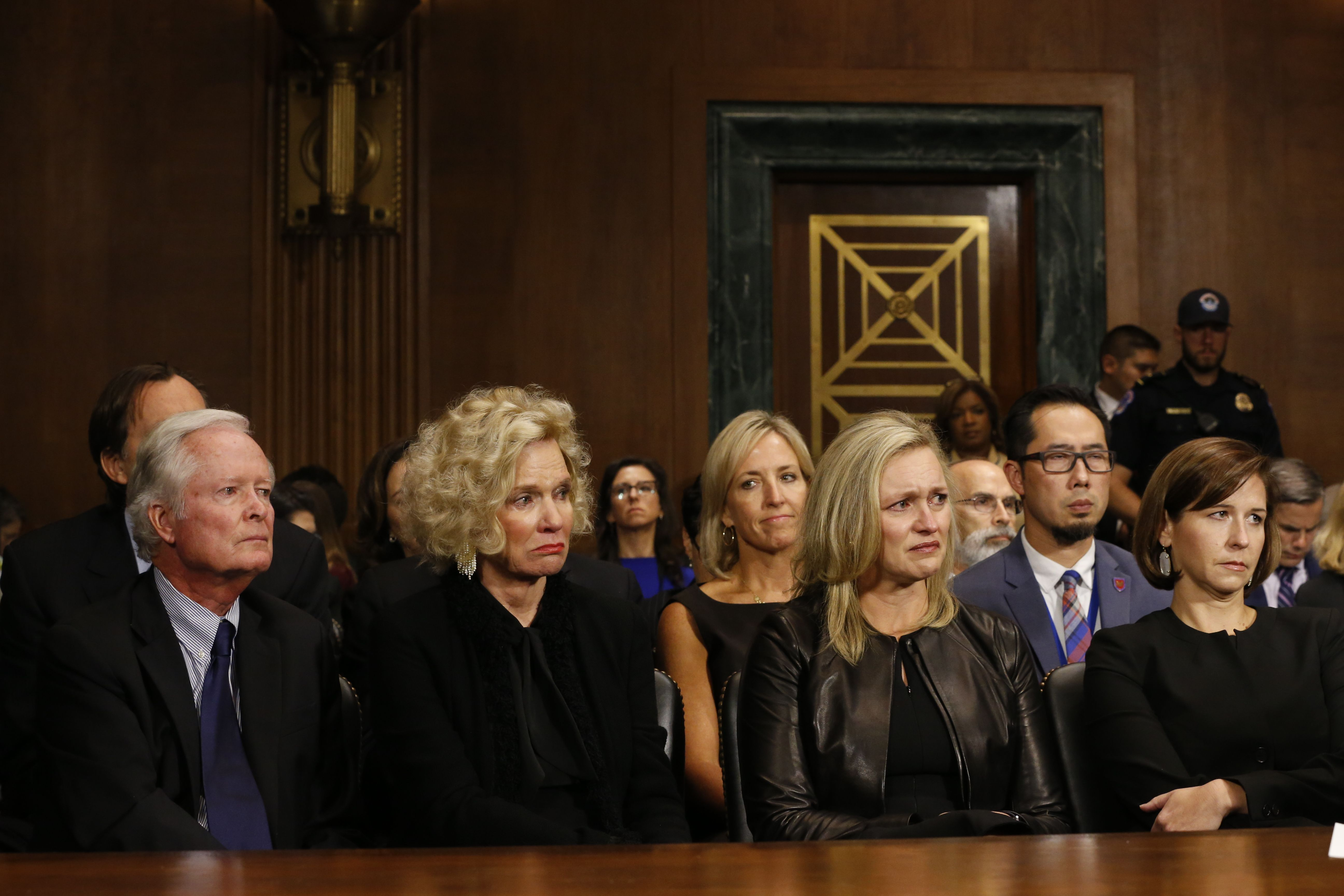 Kavanaugh's family. Photo: Michael Reynolds-Pool/Getty Images