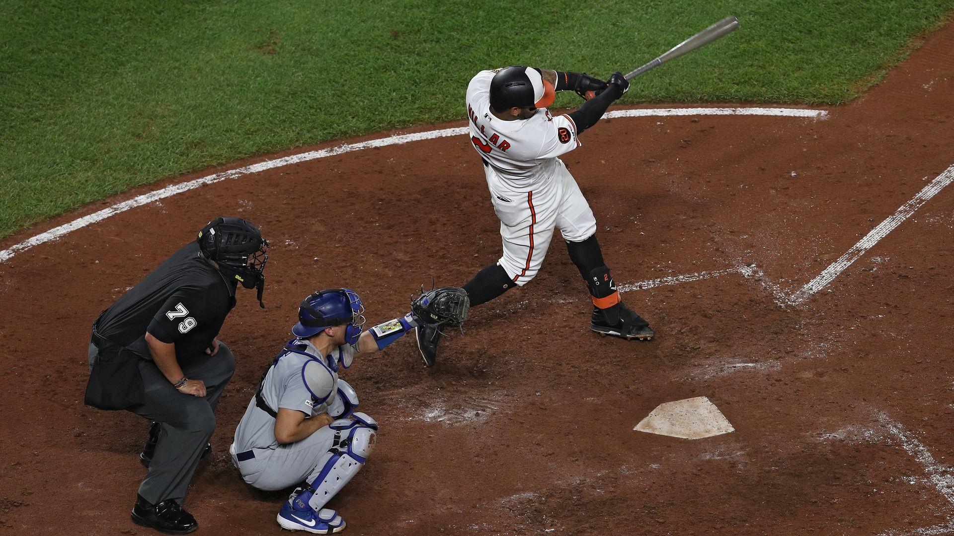 Jonathan Villar hitting the 6,106th home run of 2019.