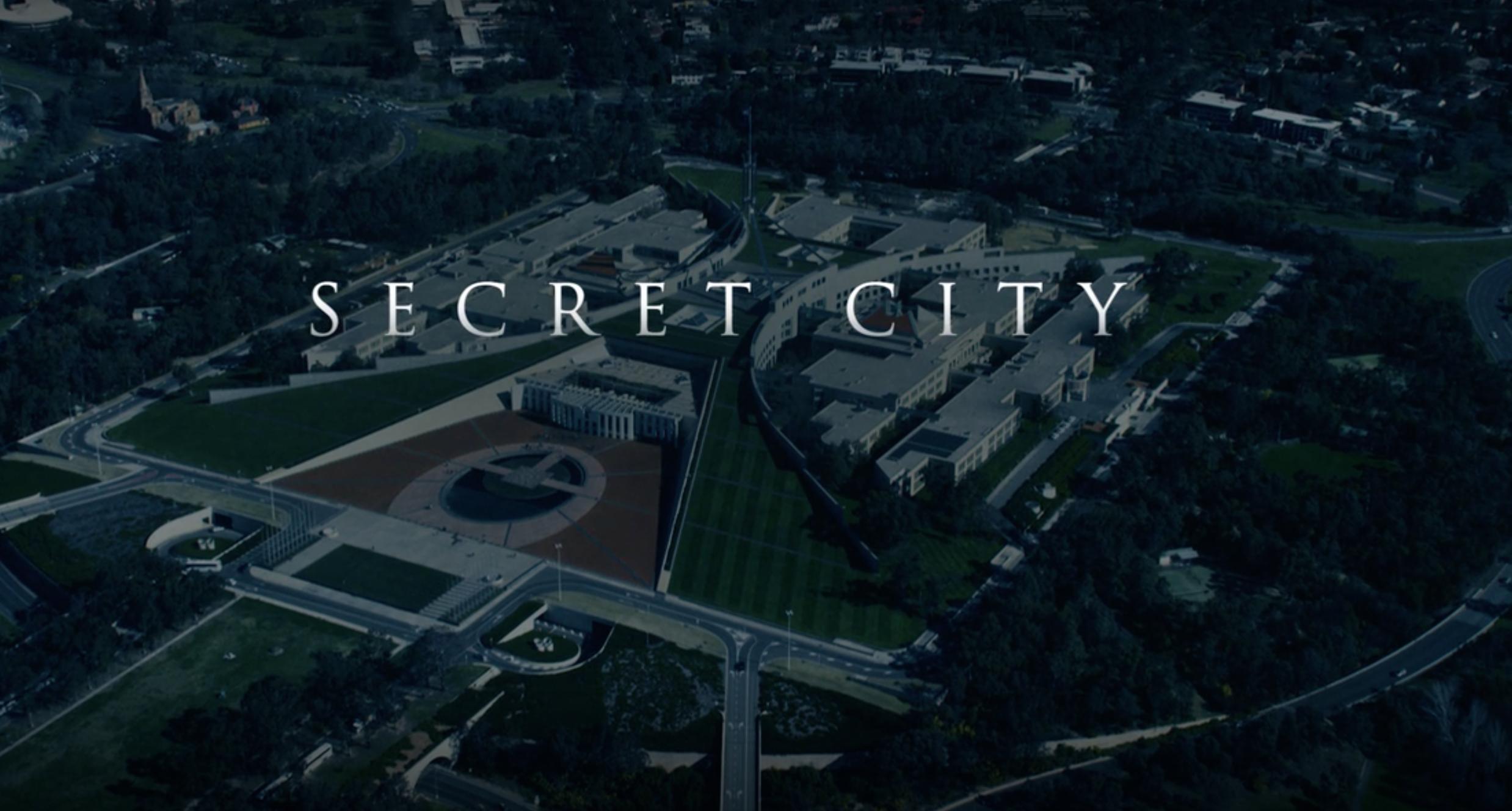 Screenshot from trailer of Secret City