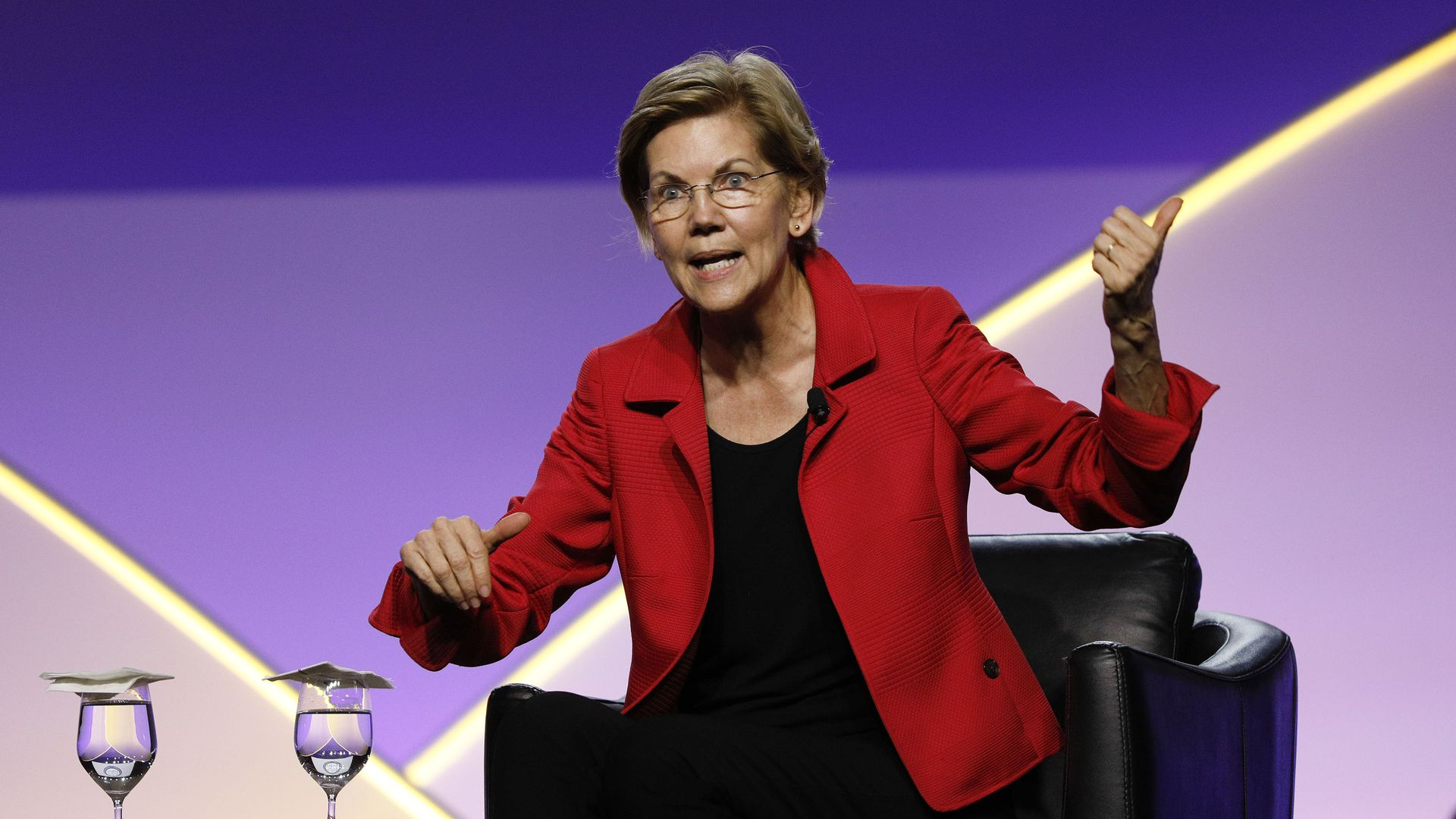 Democratic presidential candidate U.S. Sen. Elizabeth Warren (D-MA) participates in a Presidential Candidates Forum at the NAACP 110th National Convention on July 24, 2019 in Detroit, Michigan.