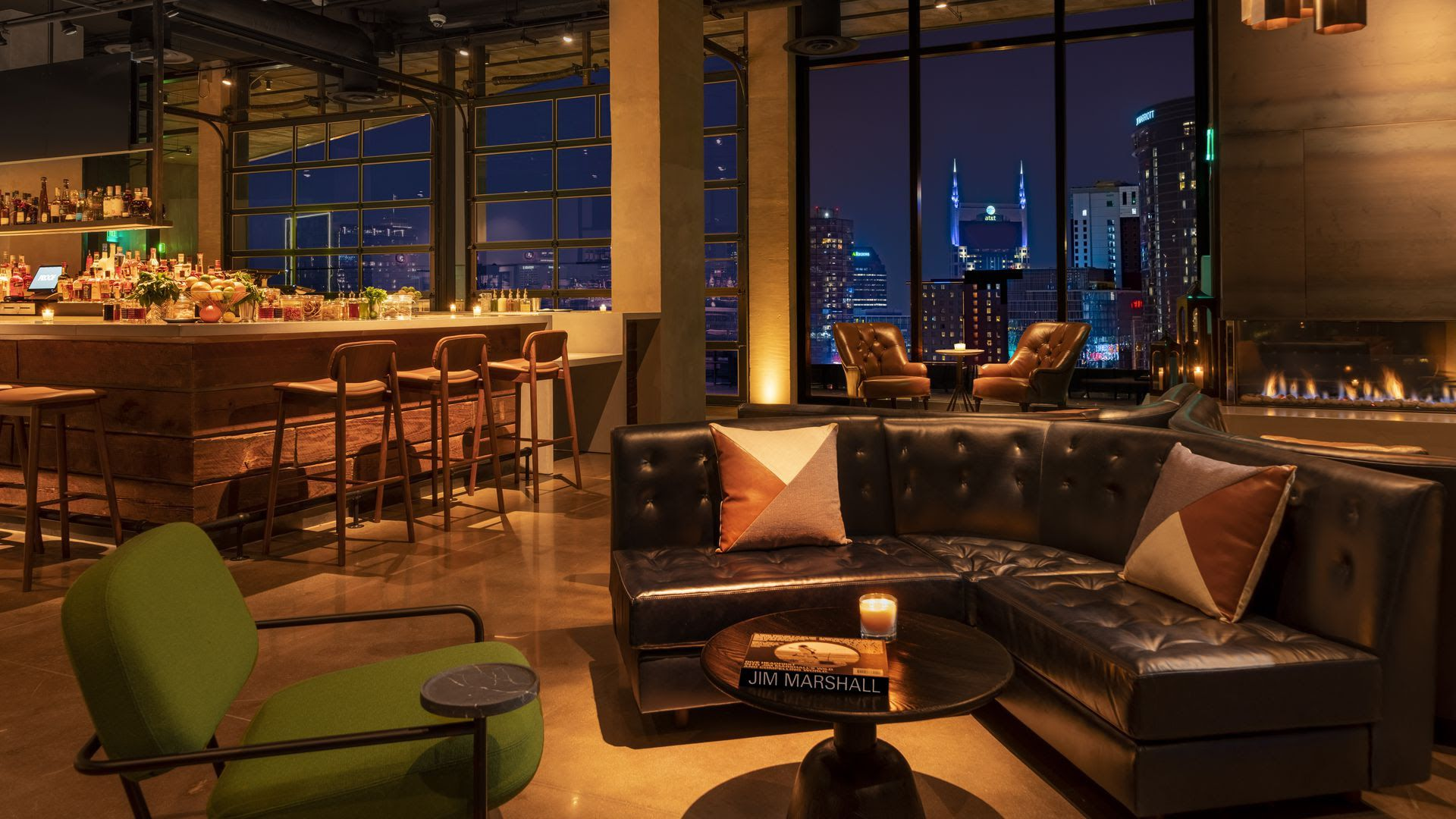A restaurant and lounge at the W Nashville.