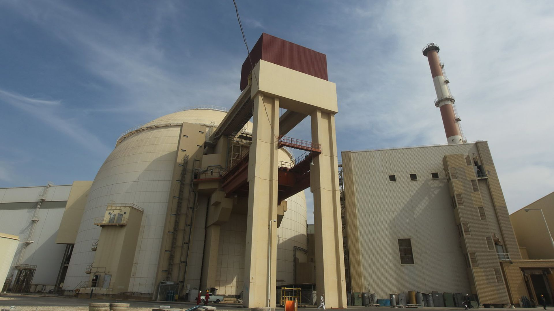 Reactor building of the Bushehr nuclear plant