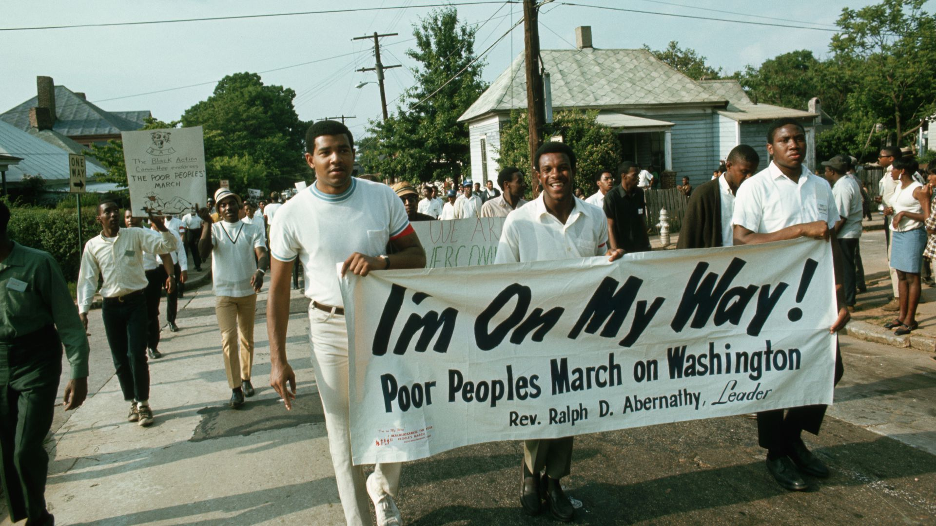 Protestors march for the Poor People's Campaign in Alabama, 1968