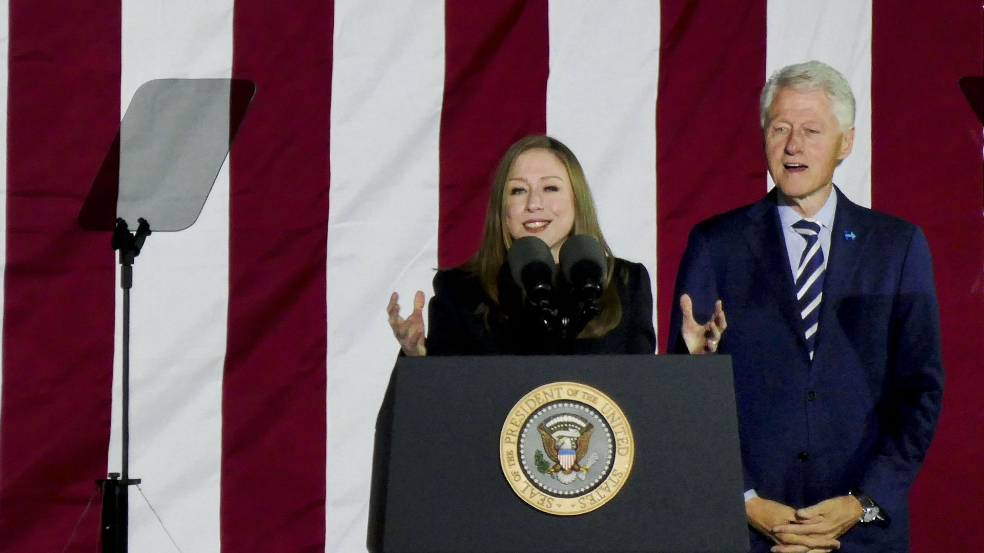 Bill and Chelsea Clinton launch a new podcast