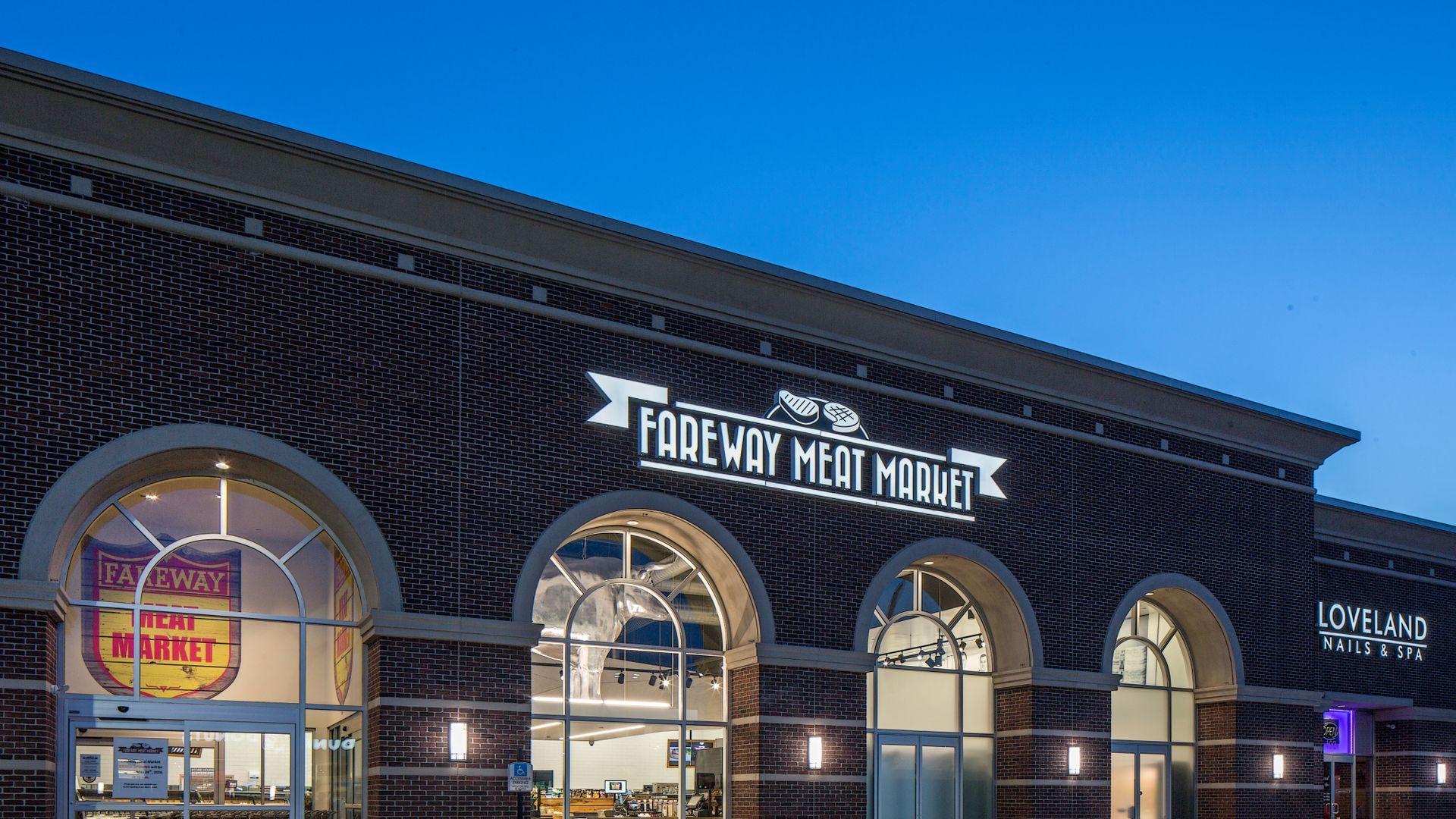 Exterior of Fareway's meat market in Omaha, Nebraska.