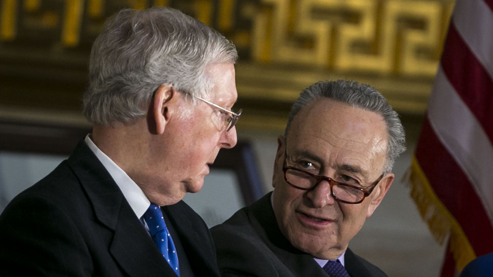 McConnell and Schumer at the Capitol