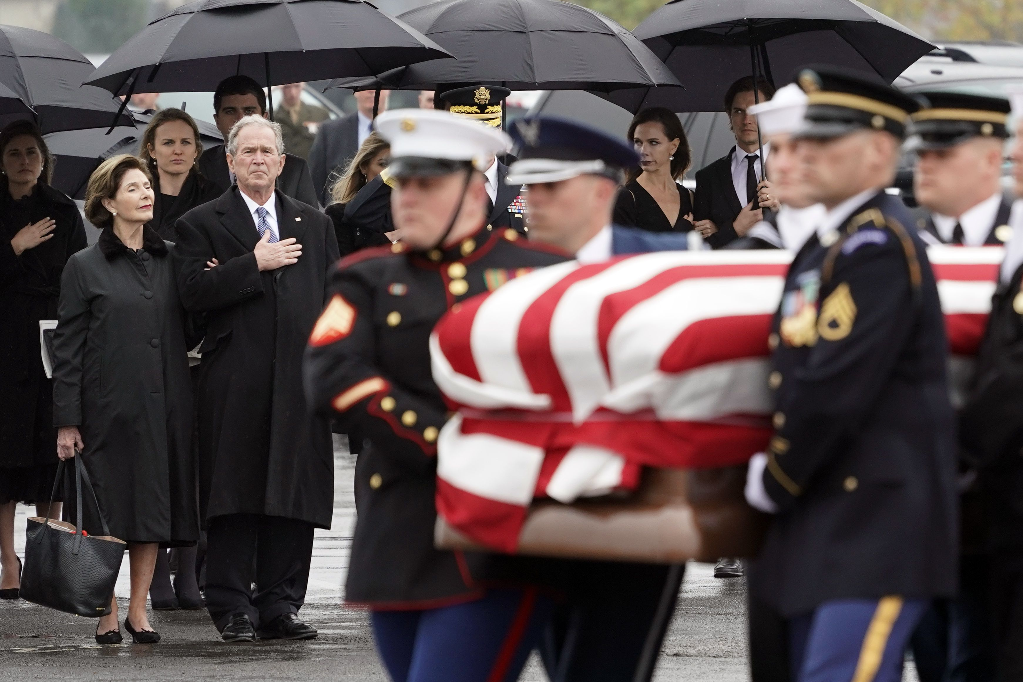 Funeral procession in Houston for George H.W. Bush