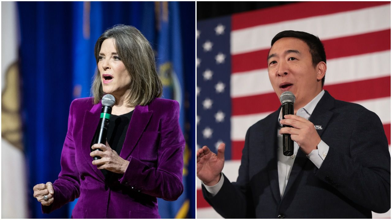 Marianne Williamson says she's supporting Andrew Yang in Iowa caucuses - Axios
