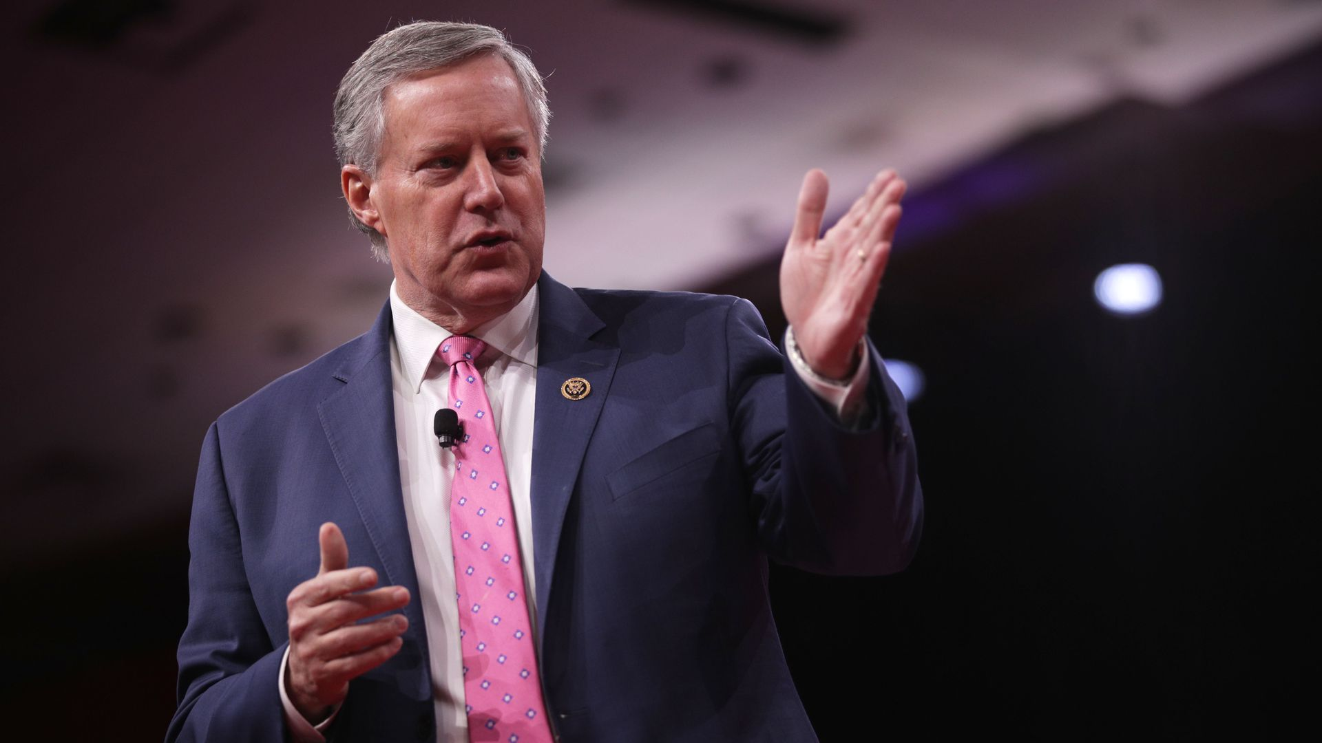 Rep. Mark Meadows speaks on stage at CPAC