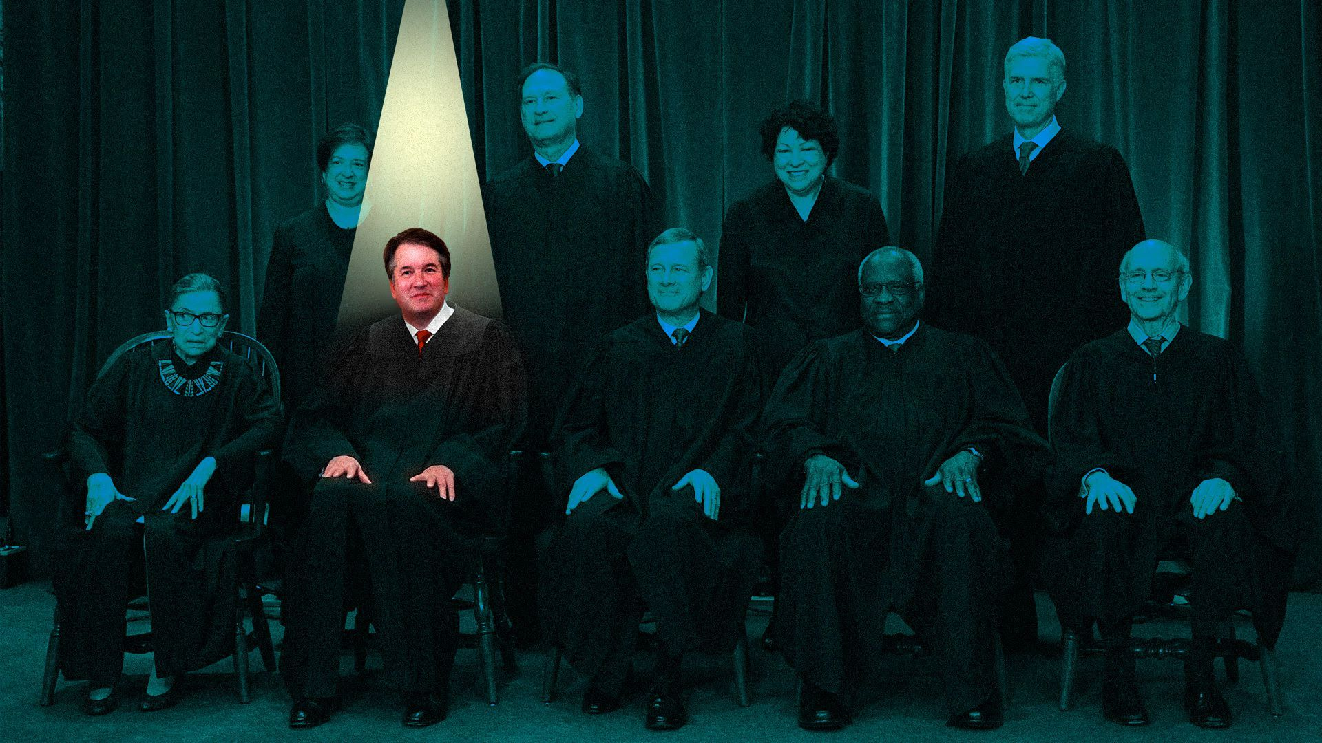 Kavanaugh in the spotlight in Supreme Court photo
