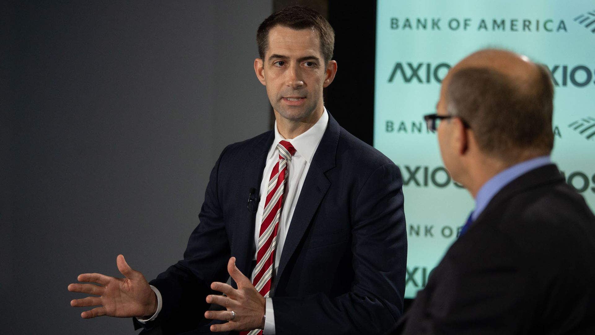 Senator Tom Cotton in conversation with Axios' Mike Allen Tuesday morning.
