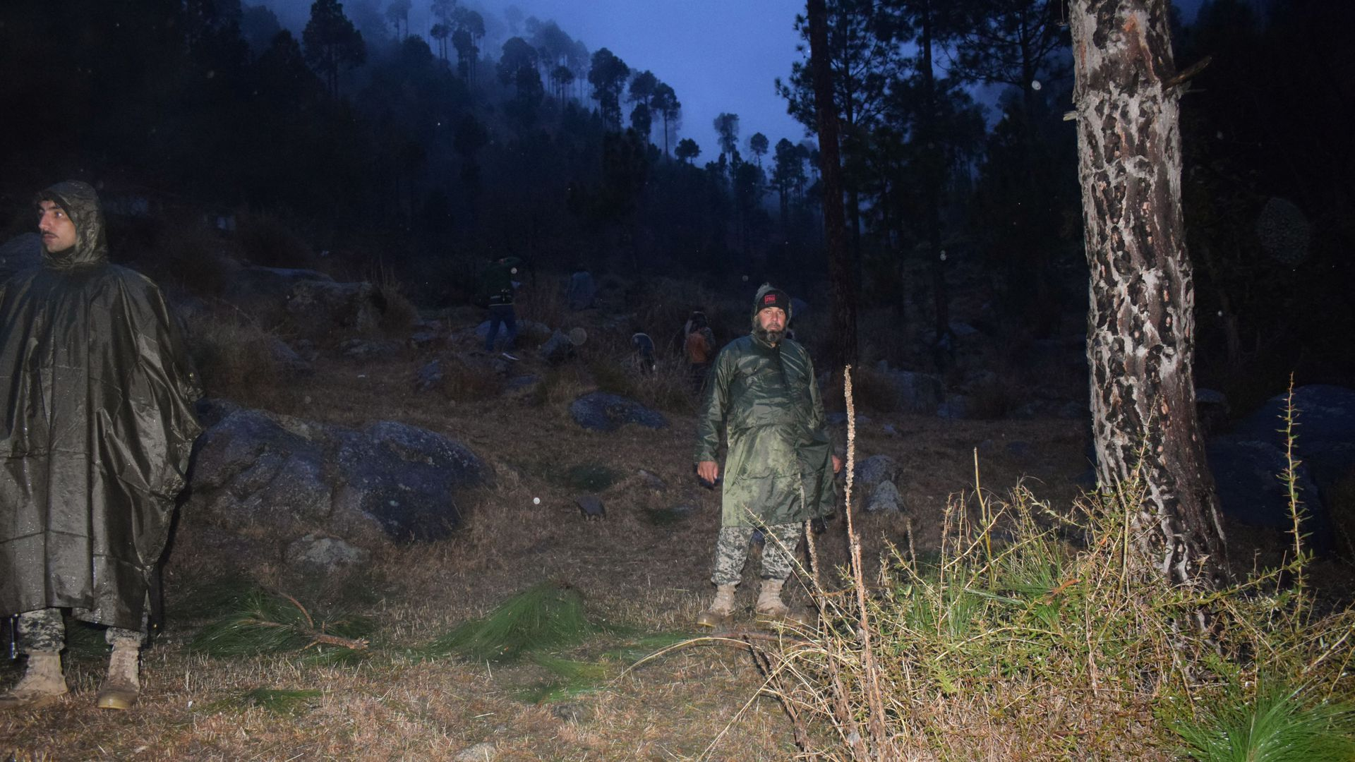 Photo of Pakistani soldiers at airstrike site