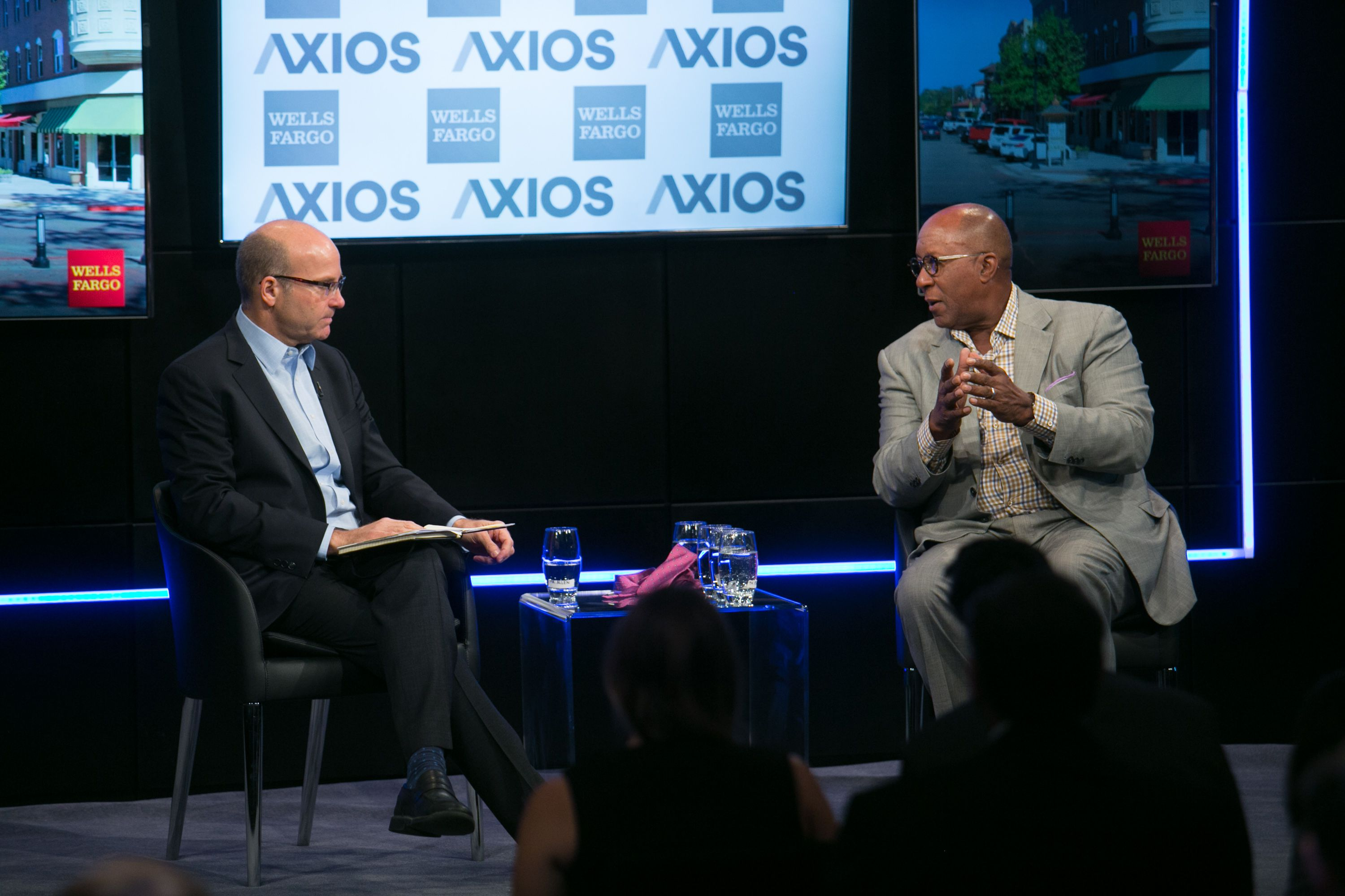 Mike Allen interviews former USTR rep. on the Axios stage about the effects of trade disputes