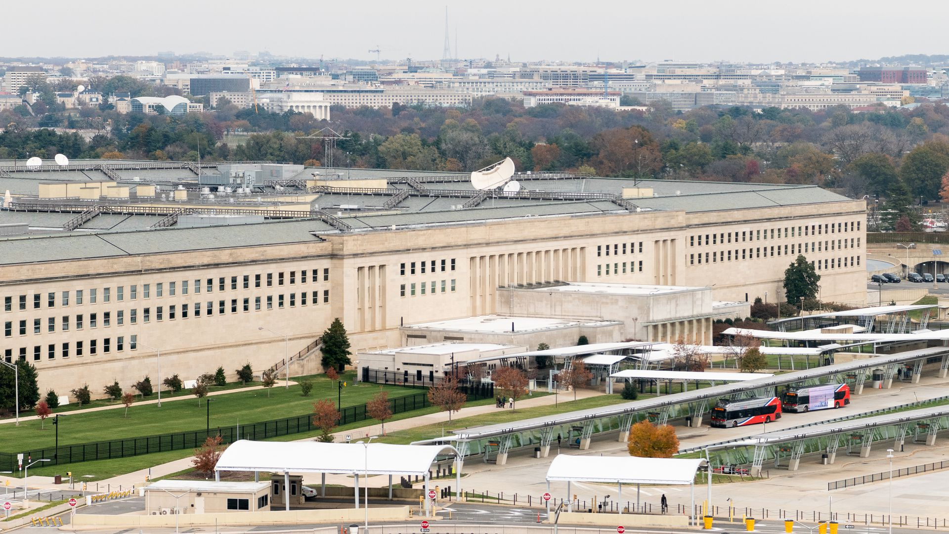 In this image, the Pentagon is seen from a distance.