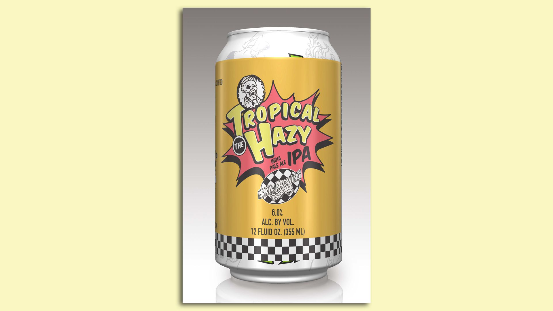 Ska Brewing is putting labels over preprinted cans to manage the shortage.