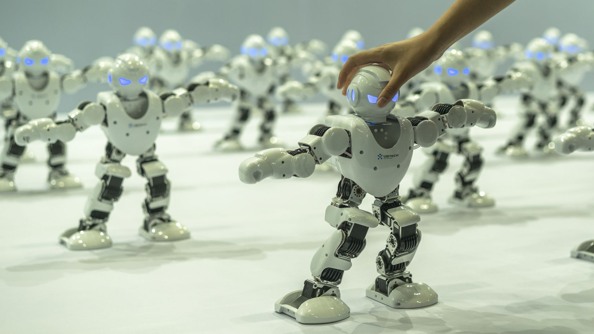 robots dance at consumer electronics trade show