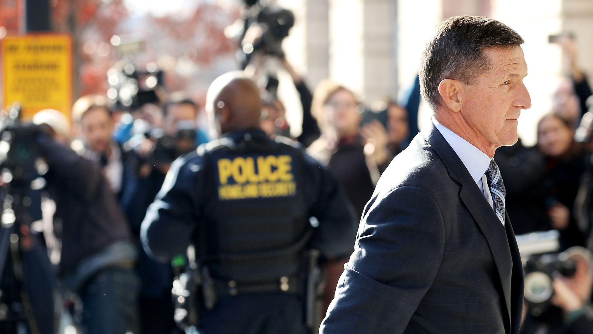 Michael Flynn, former national security advisor to President Trump, arrives for his plea hearing at the Prettyman Federal Courthouse in December. Photo: Chip Somodevilla/Getty Images