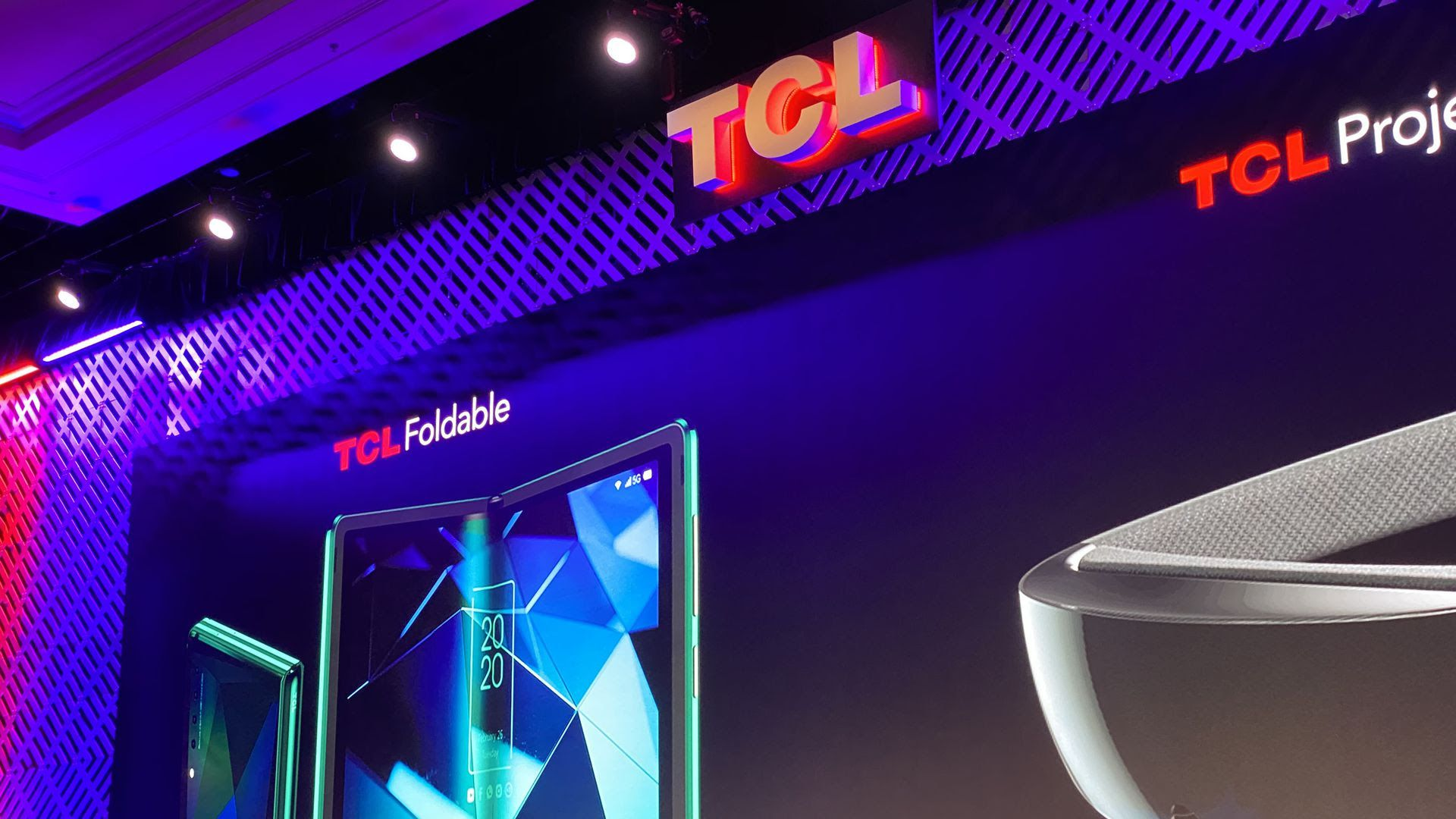photo of TCL booth at CES
