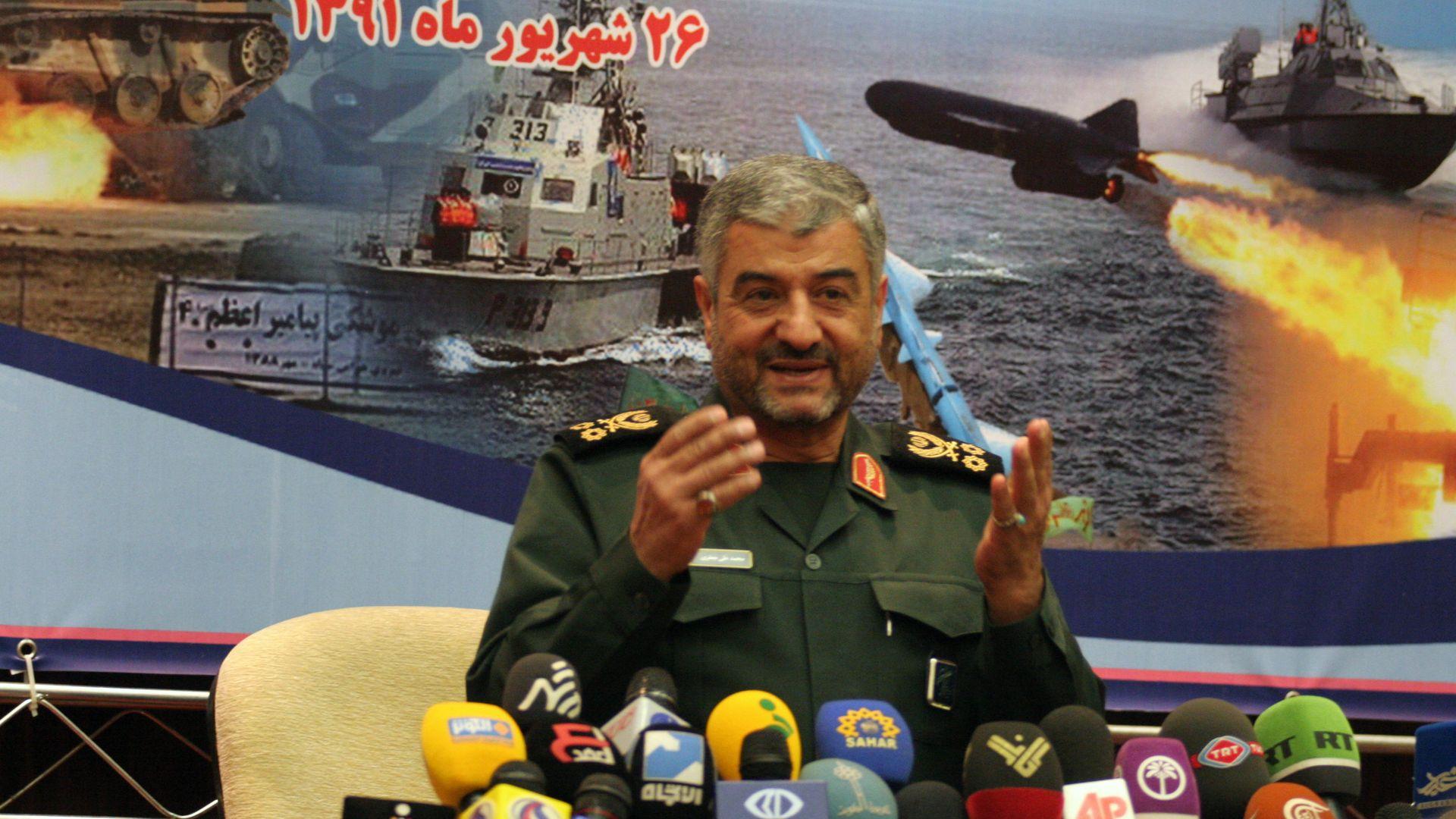 photo of Islamic Revolution Guards Corps commander, Major General Mohammad-Ali Jafari