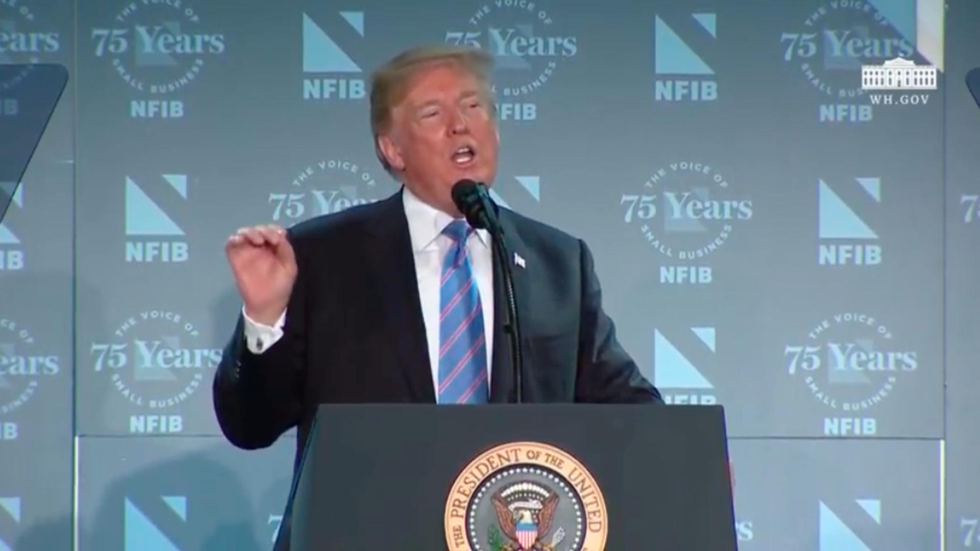 Trump speaking on Immigration