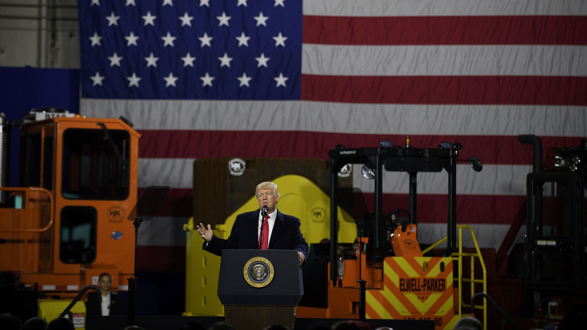 President Trump visits manufacturing factory in Pennsylvania