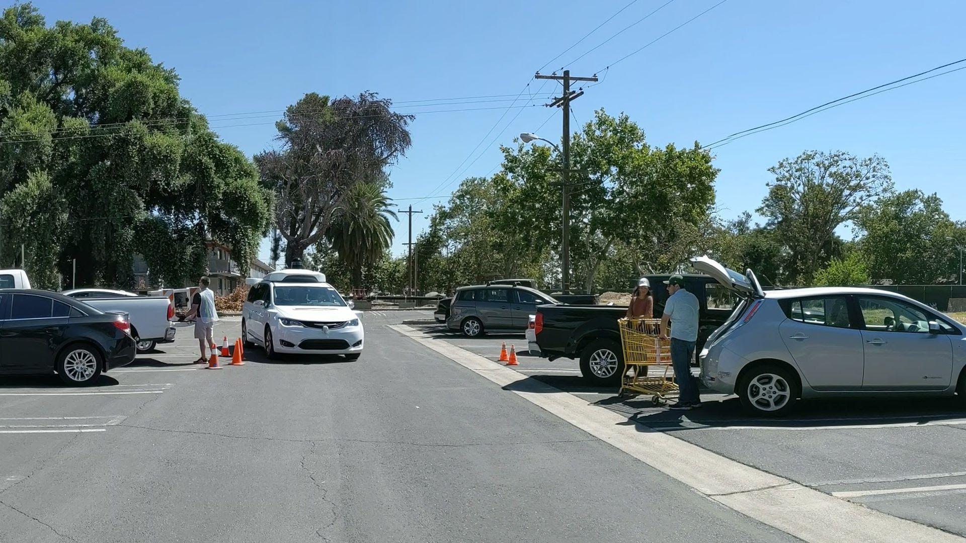 Waymo van learns how to navigate parking lots. (Photo: Waymo)