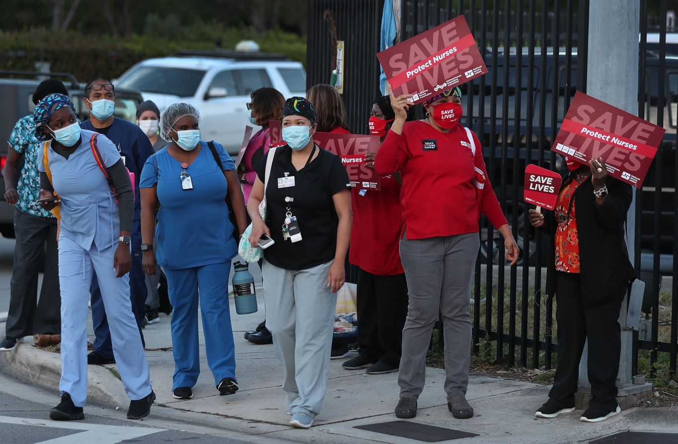 Nurses rally nationwide to demand protection amid pandemic