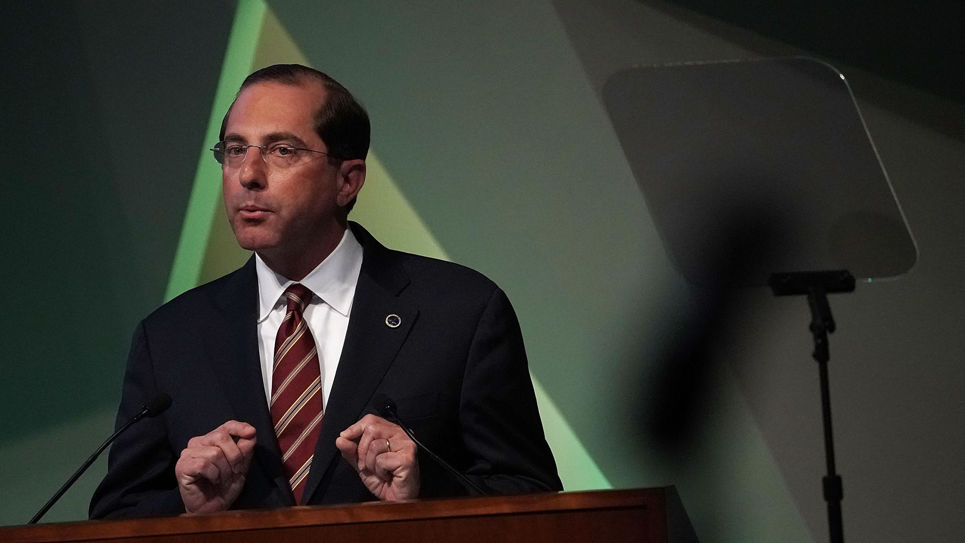 HHS Secretary Alex Azar delivers a speech