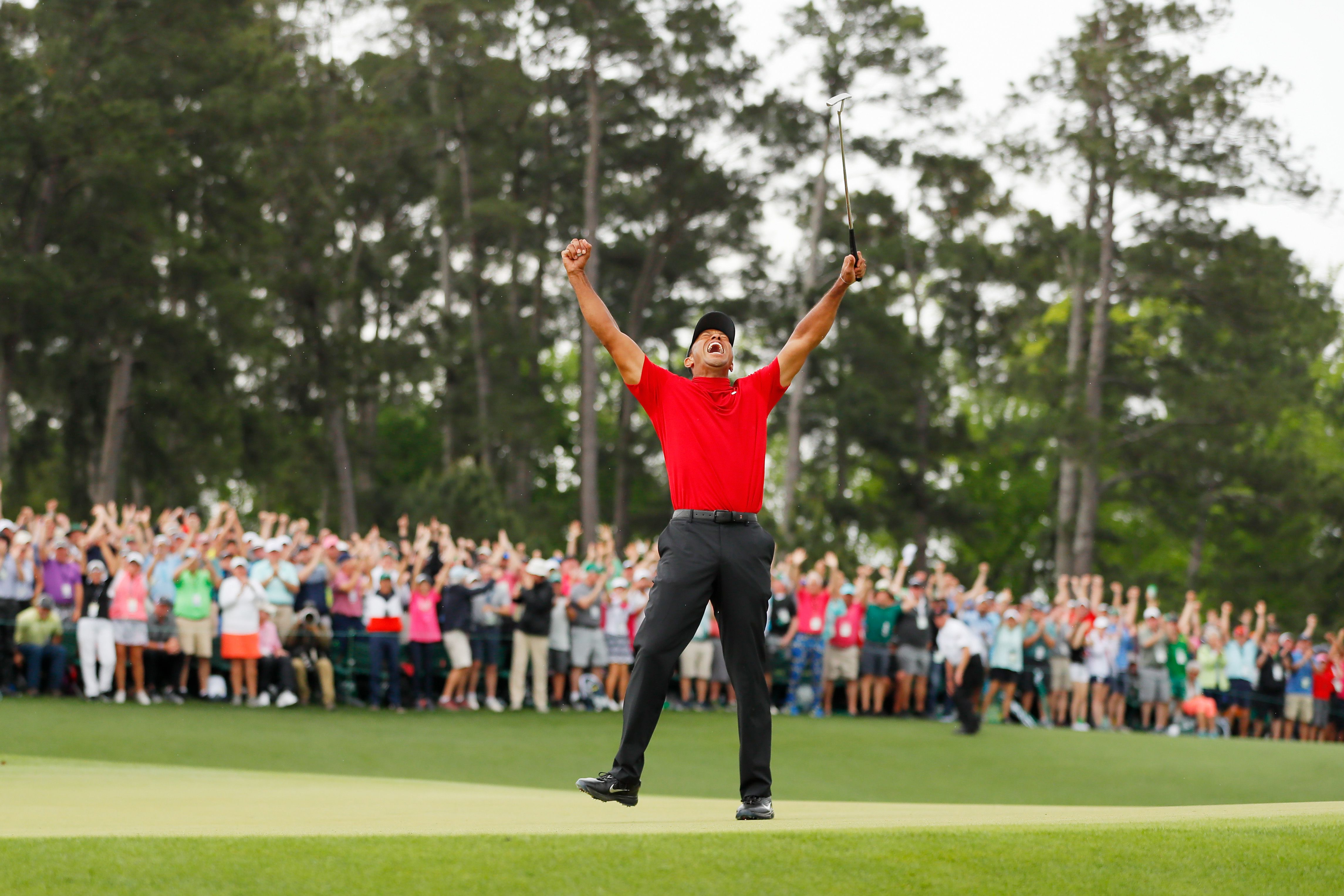 Tiger Woods after winning The Masters