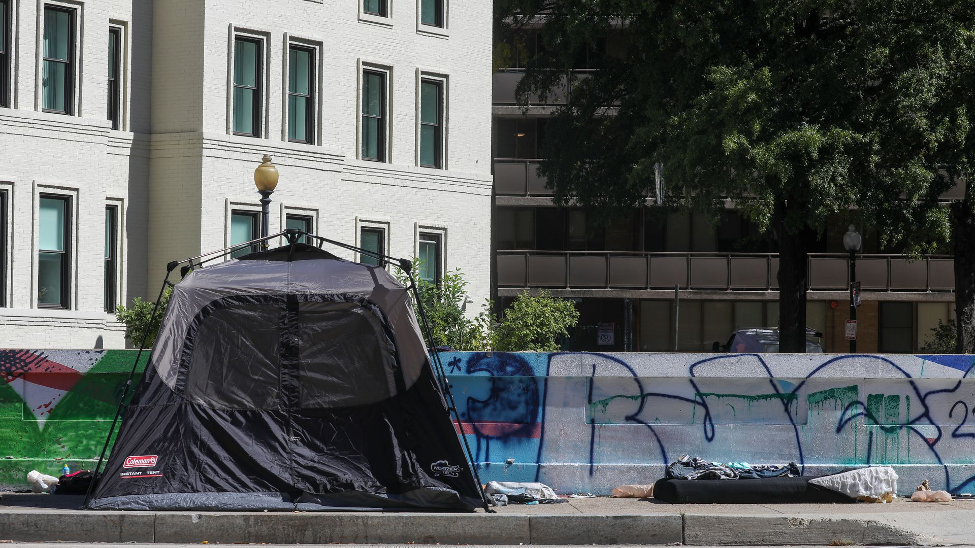A homeless tent in D.C.