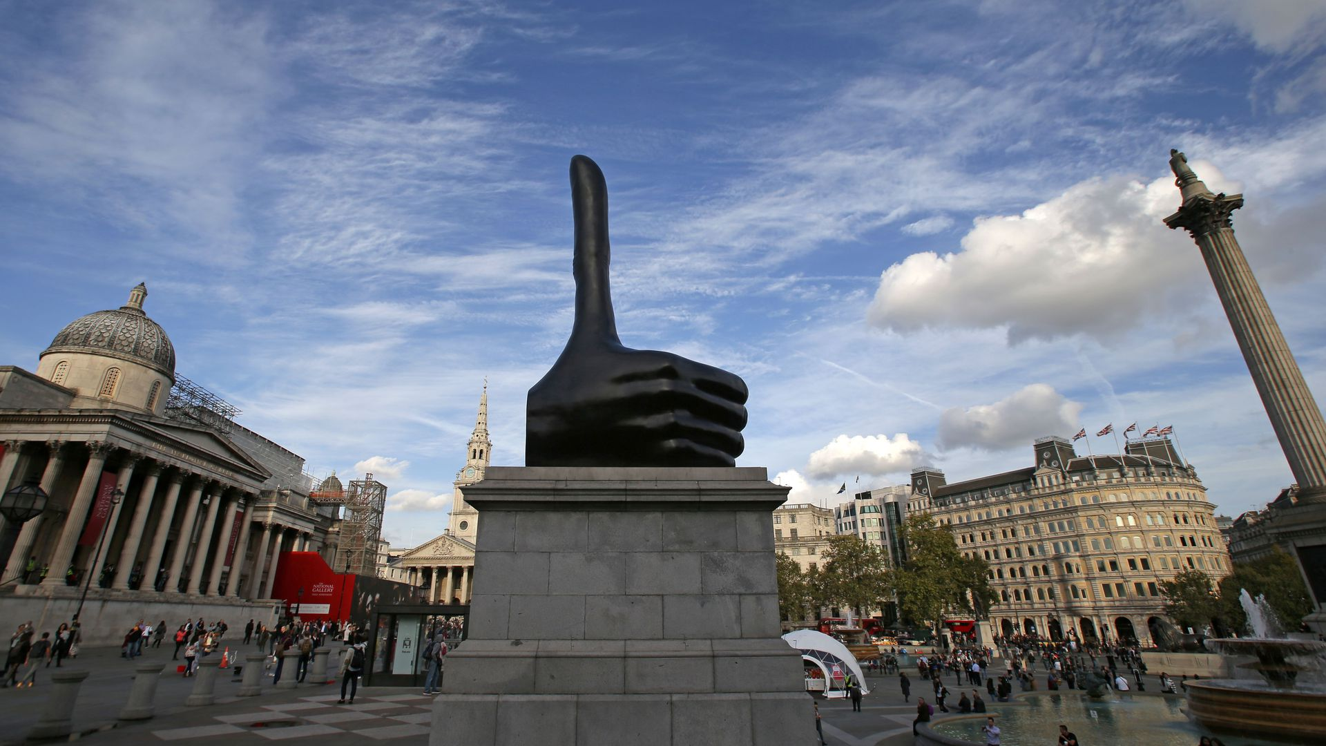 Thumbs up statue
