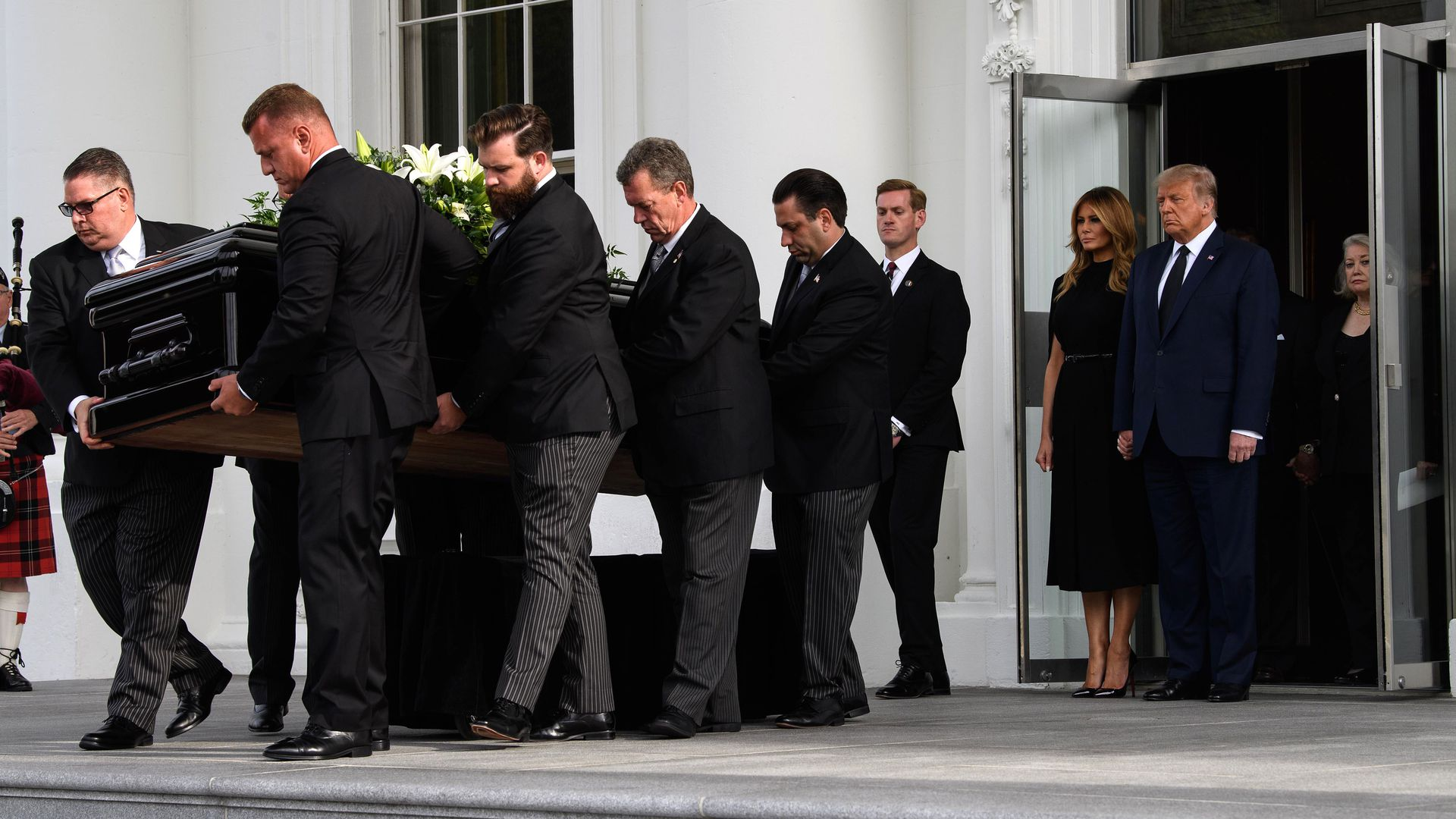 White House Holds Funeral Procession For Trump S Younger Brother Axios