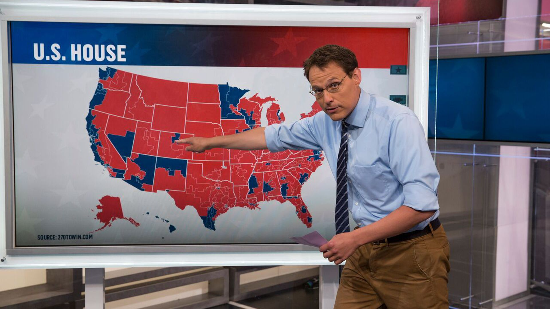 MSNBC's Steve Kornacki in front of an election map