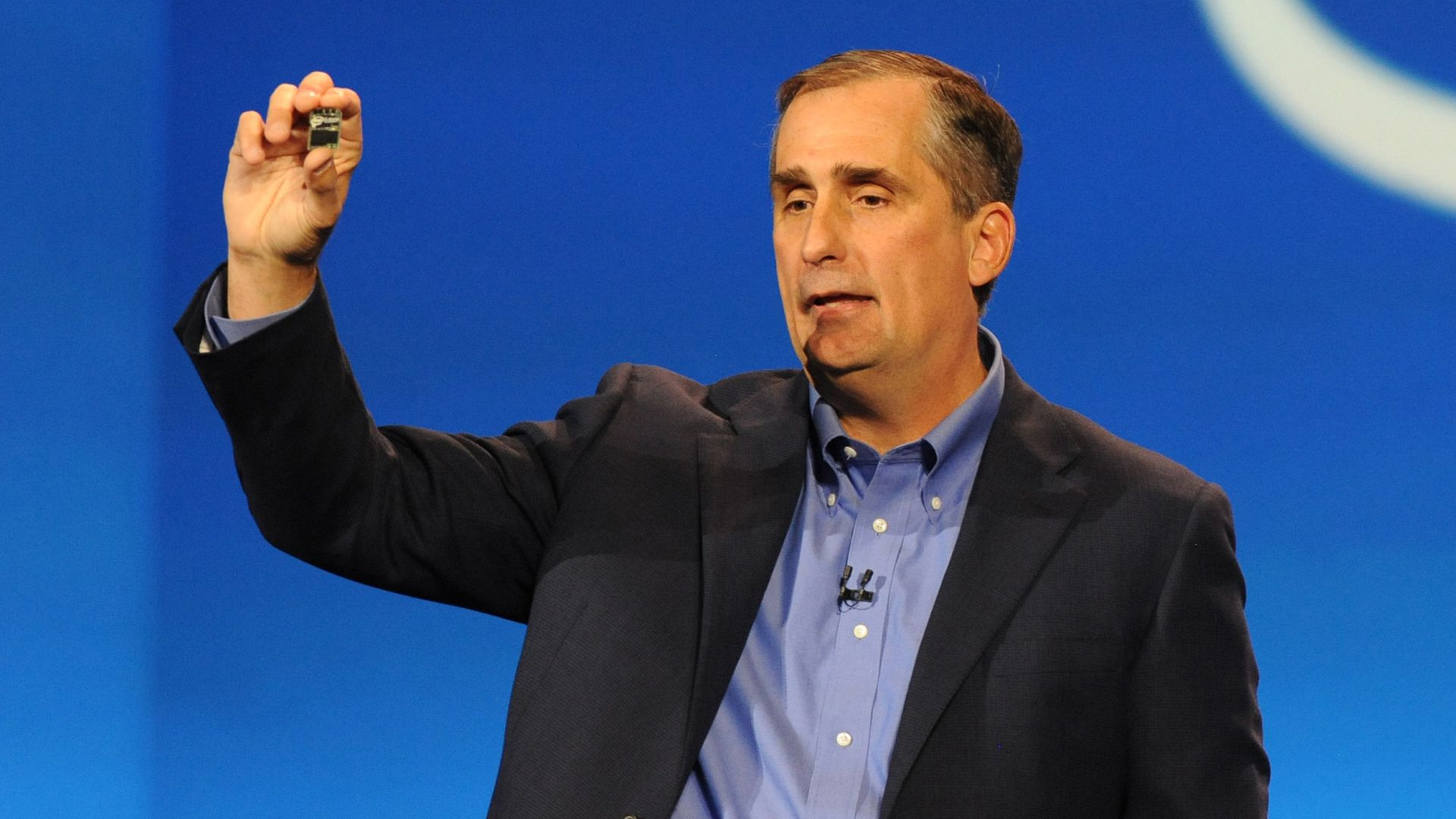 Intel CEO Brian Krzanich, speaking at CES 2014.