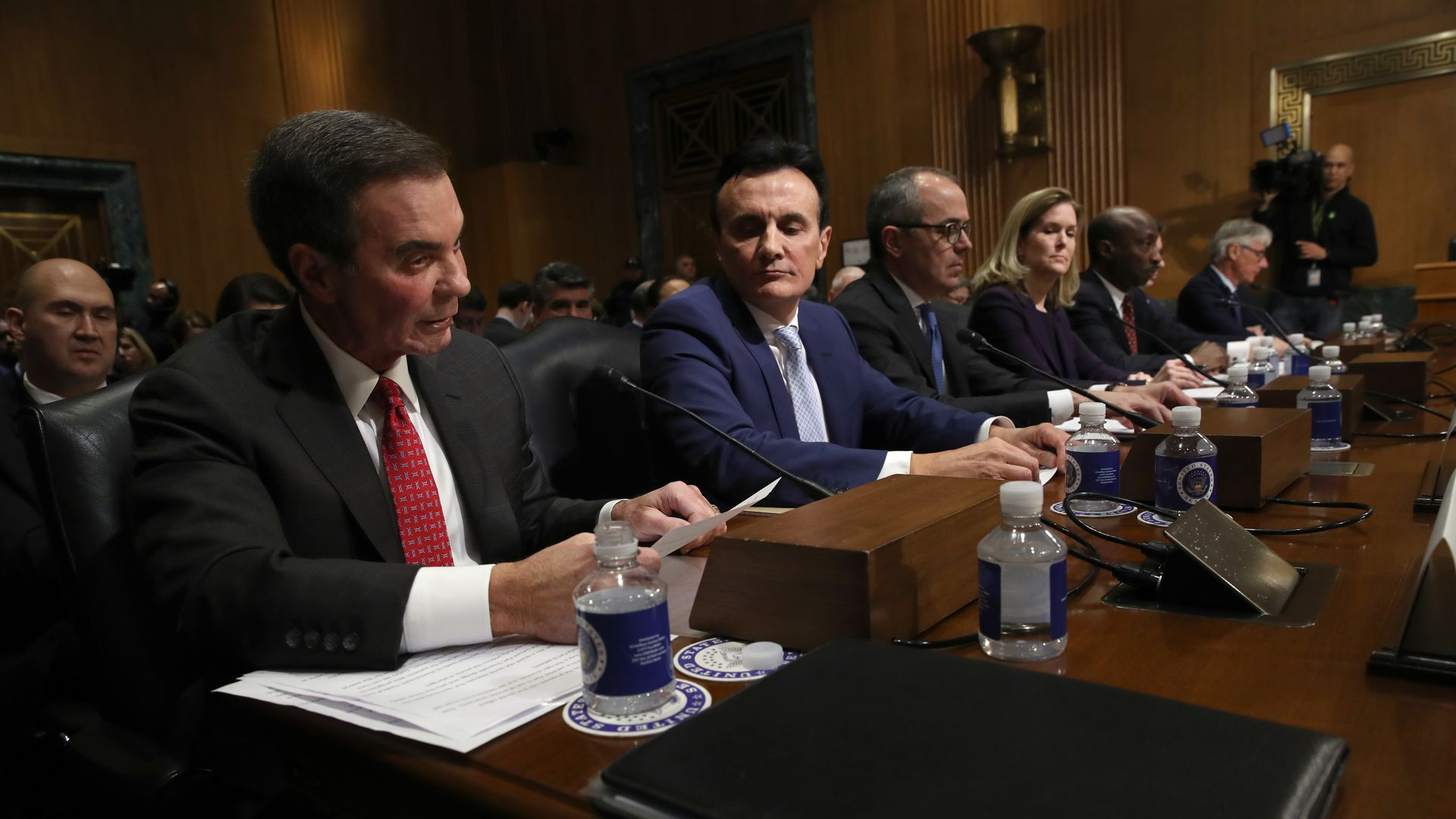 AbbVie CEO Richard Gonzales is in the foreground as industry CEOs testify on Capitol Hill