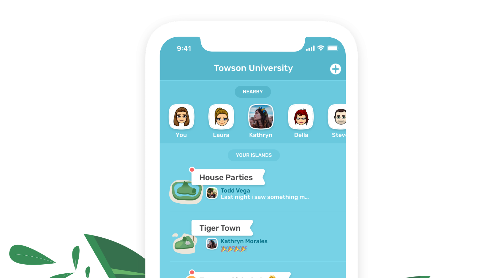 Islands app for college students adds Facebook-like user