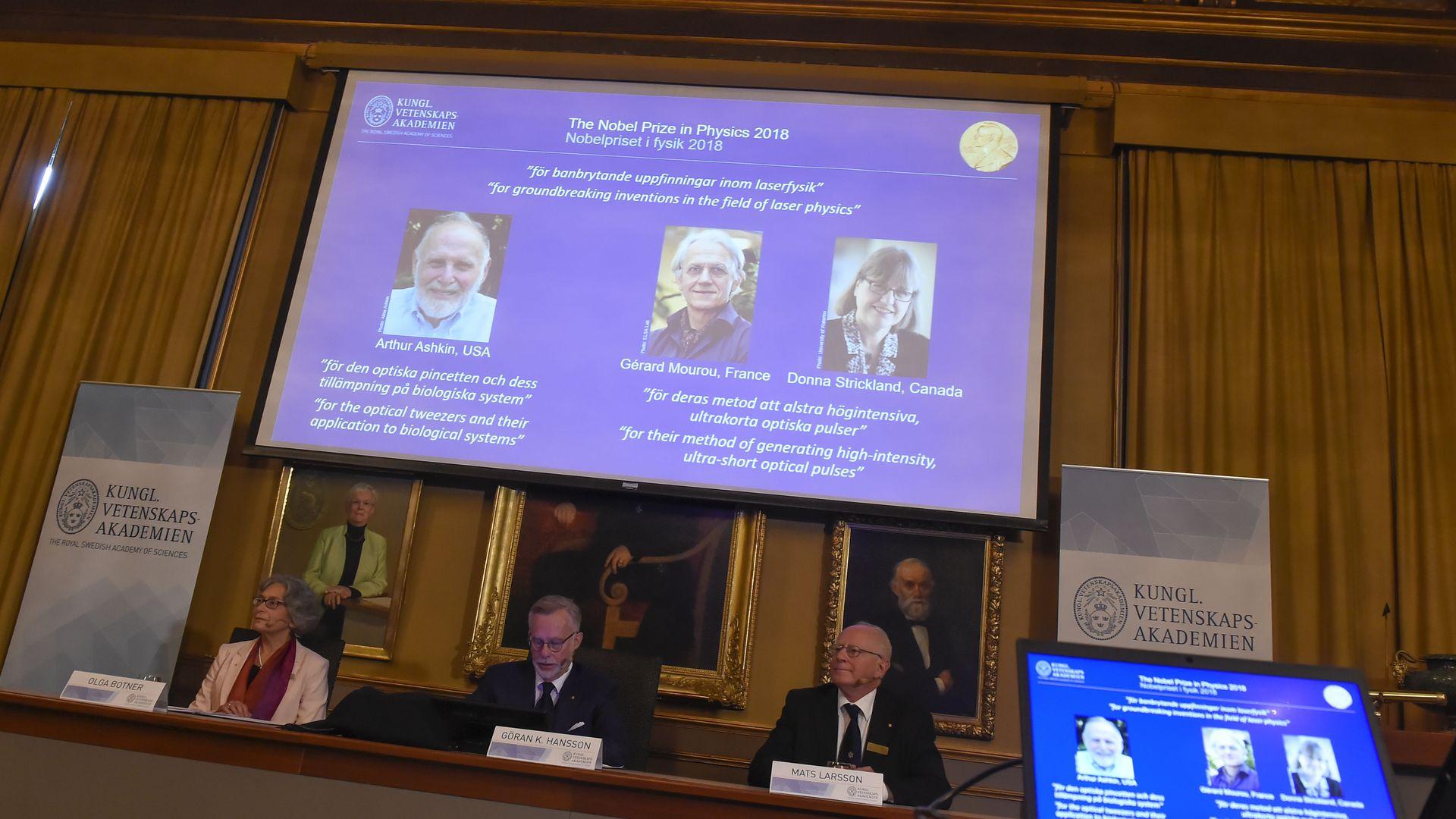 Nobel presenters