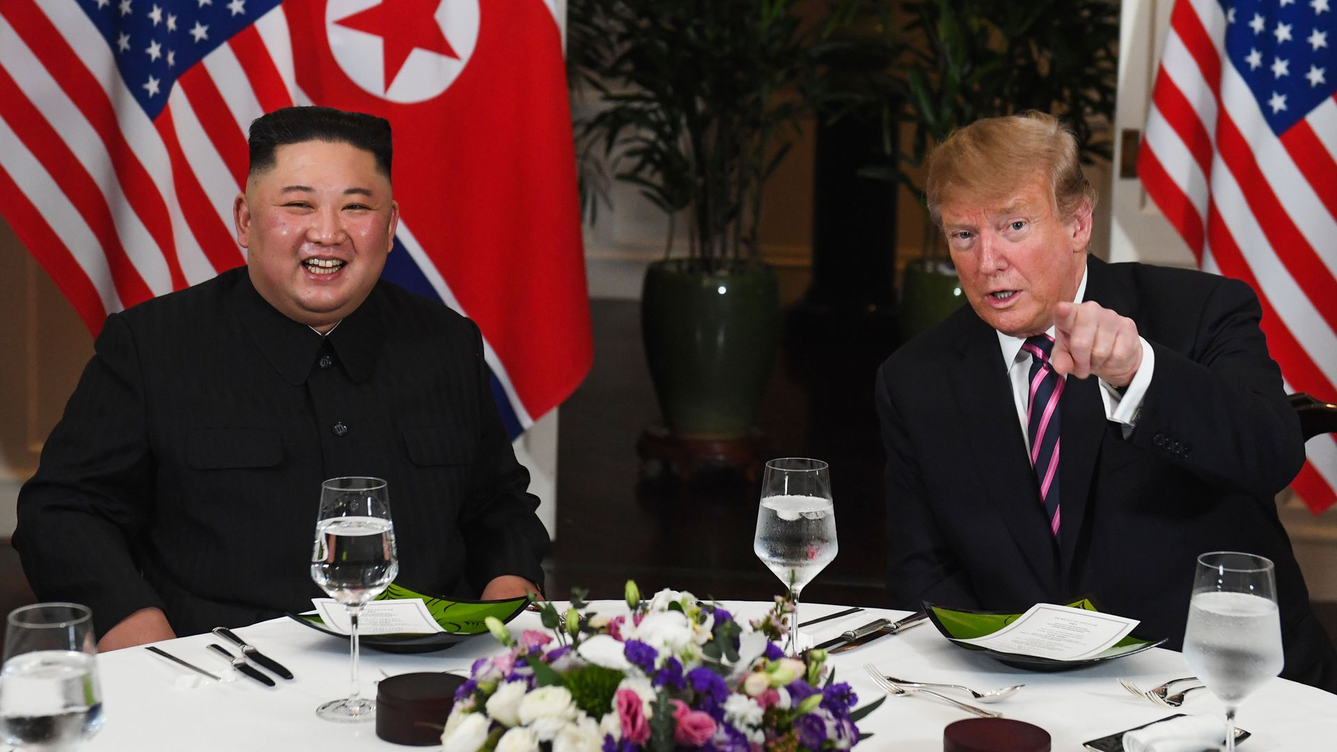 North Korea leader Kim Jong-un and President Trump sit down for a second summit.